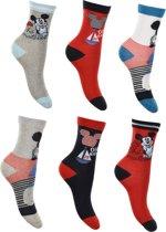 6 paar sokken Mickey Mouse maat 23/26