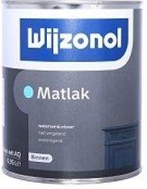Wijzonol Matlak Waterverdunbaar RAL7021 Zwartgrijs 1 Liter
