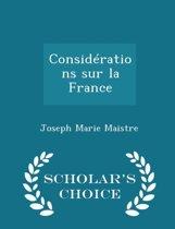 Considerations Sur La France - Scholar's Choice Edition