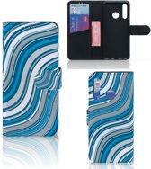 Huawei P Smart Plus (2019) Telefoon Hoesje Waves Blue