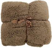 Unique Living Teddy - Fleece - Plaid - 150x200 cm - Taupe