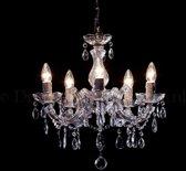 Kroonluchter Maria Theresa 5 lichts Ø45cm - chroom glas
