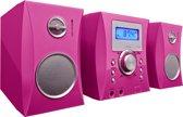 Bigben Micro Radio en CD Speler met 300 Stickers – Roze