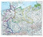 Historische Karte: Deutschland mit Besatzungszonen - 1. September 1945 (plano)