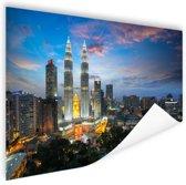 Kuala Lumpur skyline zonsondergang Poster 120x80 cm - Foto print op Poster (wanddecoratie)