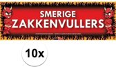 10x Sticky Devil Smerige zakkenvullers grappige teksen stickers