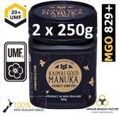 MANUKA HONING (MGO ≥ 829 =) UMF® 20+ 500gr (= 2 x 250gr) / KAIMAI GOLD