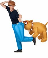Opblaasbare bijtende hond kostuum voor volwassenen - Verkleedkleding - One Size
