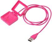 USB-lader adapter voor Fitbit Blaze - Roze