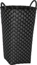 Handed By Dijon - Opbergmand - Wasmand - Rond - Dijon - Donker grijs met zwart patroon