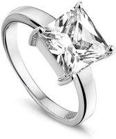 Silventi 943281381-58 Zilveren ring - met Zirkonia - Vierkant - 10 mm - Zilverkleurig