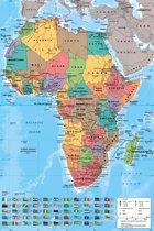 Poster Afrika kaart - 61x91.cm