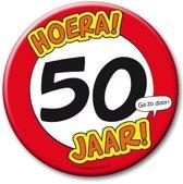 XXL verjaardags button 50 jaar
