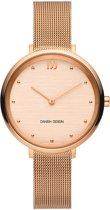 Danish Design IV68Q1218 horloge dames - ros� - edelstaal PVD ros�