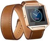 Infinity Leer Armband voor Fitbit Blaze zonder behuizing