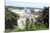De  watervallen van Iguaçu Aluminium 180x120 cm - Foto print op Aluminium (metaal wanddecoratie) XXL / Groot formaat!
