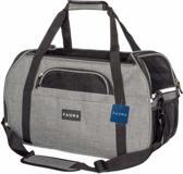 Rexa® Hondentas draagtas voor reizen 50 x 26 x 30 (LxBxH) Dark Grey | Huisdieren draagtas met kussen voor transport en reizen | Kattentas hondentas | Voor kleine honden, katten, konijnen etc.