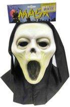Vynil masker scream + doek (Hallowe