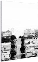 San Francisco zwart-wit Aluminium 80x120 cm - Foto print op Aluminium (metaal wanddecoratie)
