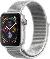 Apple Watch Series 4 - 40 mm - zilver met grijze Nylon sportband