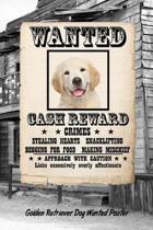 Golden Retriever Puppy Dog Wanted Poster