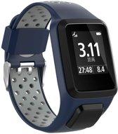 Siliconen Horloge Band Voor Tomtom Adventurer / Golfer 2 / Spark / Runner 2/3 - Armband / Polsband / Strap Bandje / Sportband - Blauw/Grijs