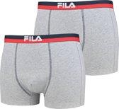 Fila heren boxershorts 2 pack grijs maat XL