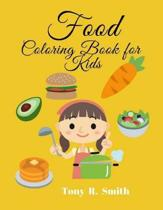 Food Coloring Book for Kids: 100 Pages to Color