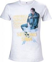 Infamous: Second Son - Size L - Second Son - Men T-Shirt (Wit)