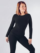 Sport Longsleeve Dames Zwart - Workout Empire Regalia Flow