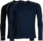Craft Active 2-Pack Tops Heren Thermoshirt - Black/Blaze - XS