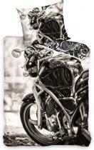 Dekbedovertrek Motorcycle - Grijs - 140x200 + 1 kussensloop 1 Persoons 140x200 + 1 kussensloop