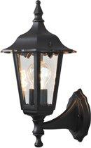 Konstsmide Firenze - Wandlamp opwaarts 36cm - 230V - E27 - matzwart