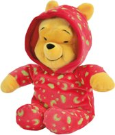 Disney Winnie Glow in the Dark  Rode Romper - Knuffel - 25 cm
