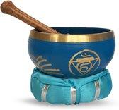 Klankschaal set Keel Chakra 12cm Blauw