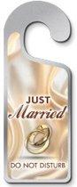 Just Married - Do Not Disturb Deurhanger Metaal
