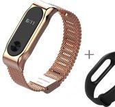 Xiaomi Mi Band 2 Activity Tracker- Roestvrij staal Rose,met inbegrip van alternatieve bracelet Zwart - Siliconen