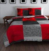 Sleeptime Text Rose Dekbedovertrekset - Tweepersoons - 200 x 220 cm - Rood