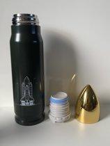 Bullet Drinkfles |Sport Drinkbeker |Thermosbeker| RVS | 500ML | Open Close Systeem