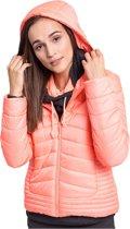 4F Women's Jacket H4Z17-KUD004PINK, Vrouwen, Roze, Sportjas maat: L