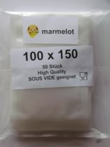 Marmelot Vacuumzakken Mikro Structuur 10X15cm 100stuks voor alle Merken Vacuum Sealers