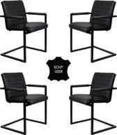 Feel Furniture - Conference stoel set 4- Zwart