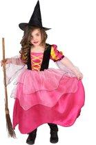Roze heksenkostuum voor meisjes - Verkleedkleding