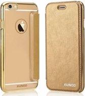 XUNDD iPhone 6 / iPhone 6S (4,7 inch) Flip Case met transparent Back Cover Goud