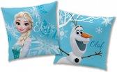 Disney Frozen Enjoy - Kussen - 40 x 40 cm - Blauw