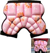 Children Outdoor Sports Roller Skating Protective Gear Hip Butt Padded Shorts Pants(Pink)