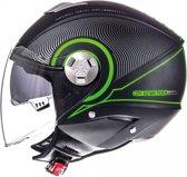 Helm MT City-Eleven sv Tron zwart/groen L