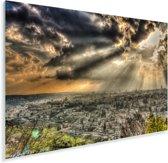 Kleurrijke lucht boven het Aziatische Jeruzalem Plexiglas 120x80 cm - Foto print op Glas (Plexiglas wanddecoratie)