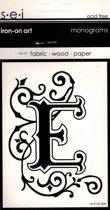 Strijksjabloon Monograms Letter E