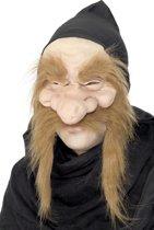 Oude tovenaar masker voor volwassenen Halloween accessoire - Verkleedmasker - One size